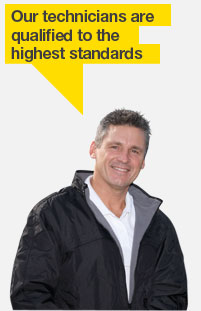Our technicians are qualified to the  highest standards